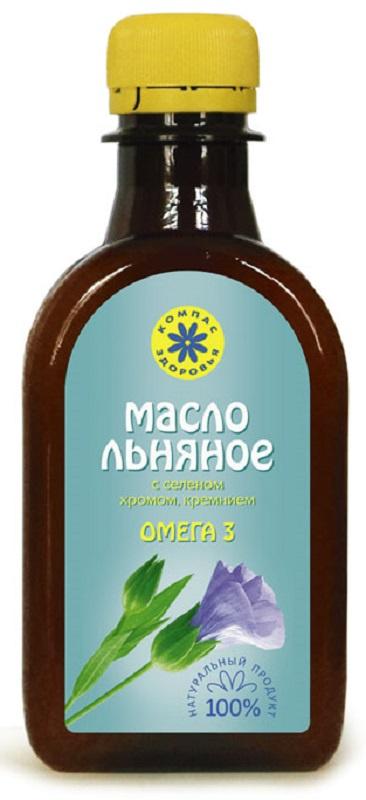 Льняное масло Компас Здоровья органическое, натуральное, растительное, 200 масло льняное компас здоровья сибирское 0 2 л
