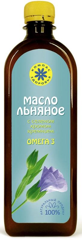 Льняное масло Компас Здоровья органическое, натуральное, растительное, 500 масло льняное компас здоровья сибирское 0 2 л