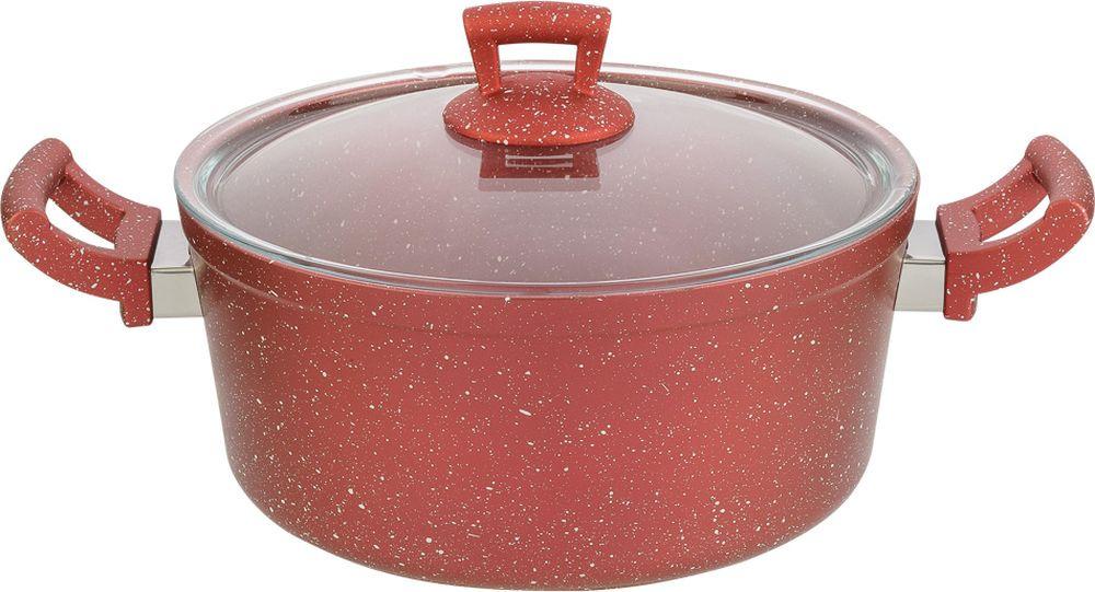 Фото - Кастрюля Катюша Классика, литой алюминий, с крышкой, 8020-500-3, красный гранит, 4 л казан катюша классика с крышкой с антипригарным покрытием 6 л