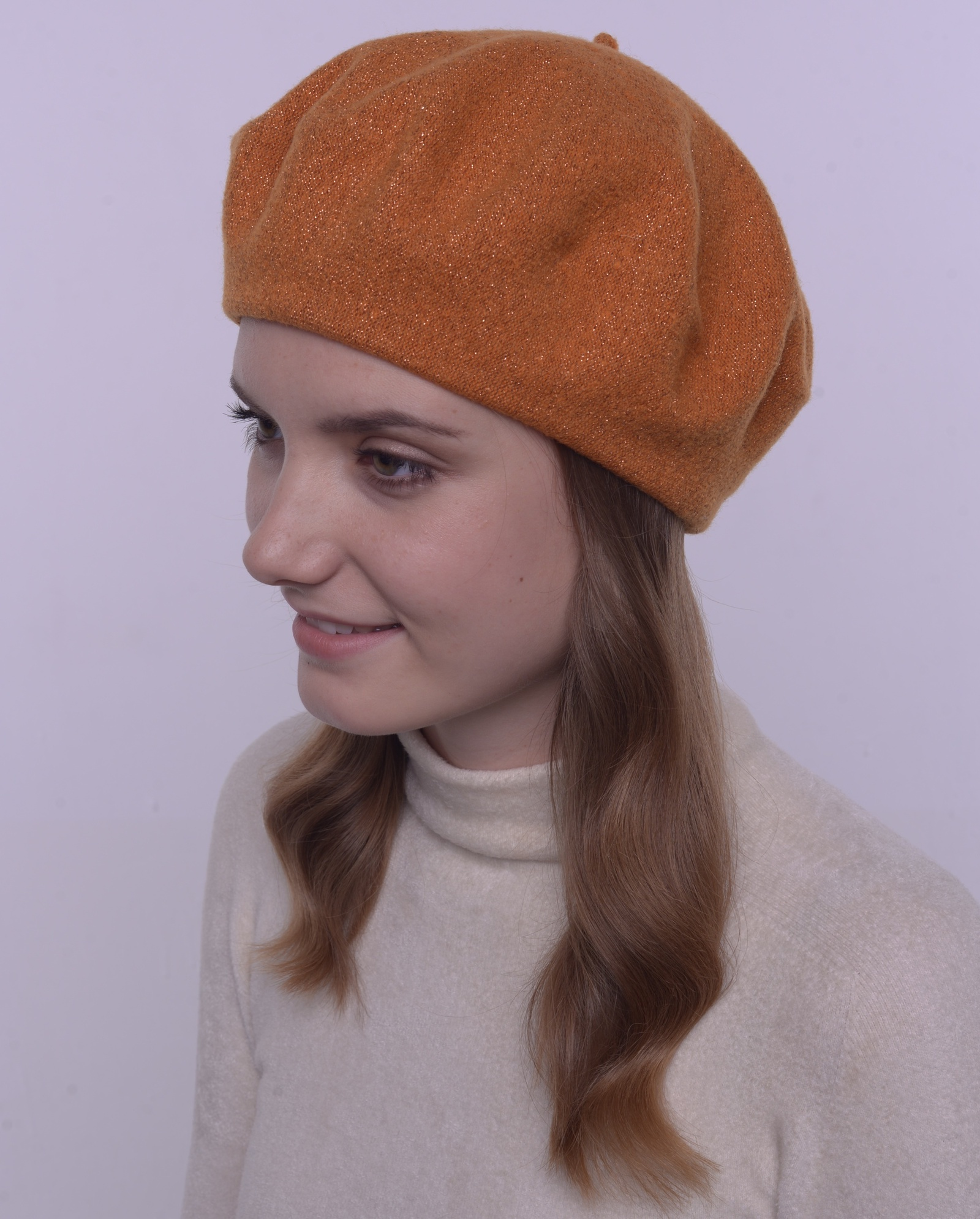 Берет FortiKnitwear берет fortiknitwear оранжевый медь 56 58 размер