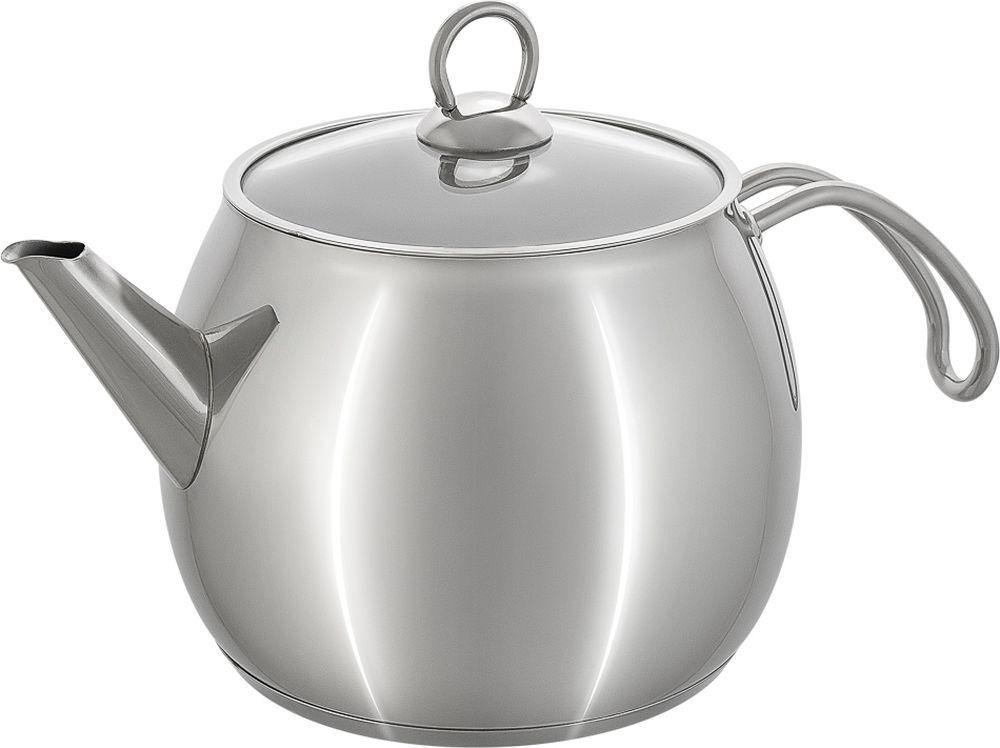 Чайник Катюша София, с крышкой, 22, хром, 2,2 л цена