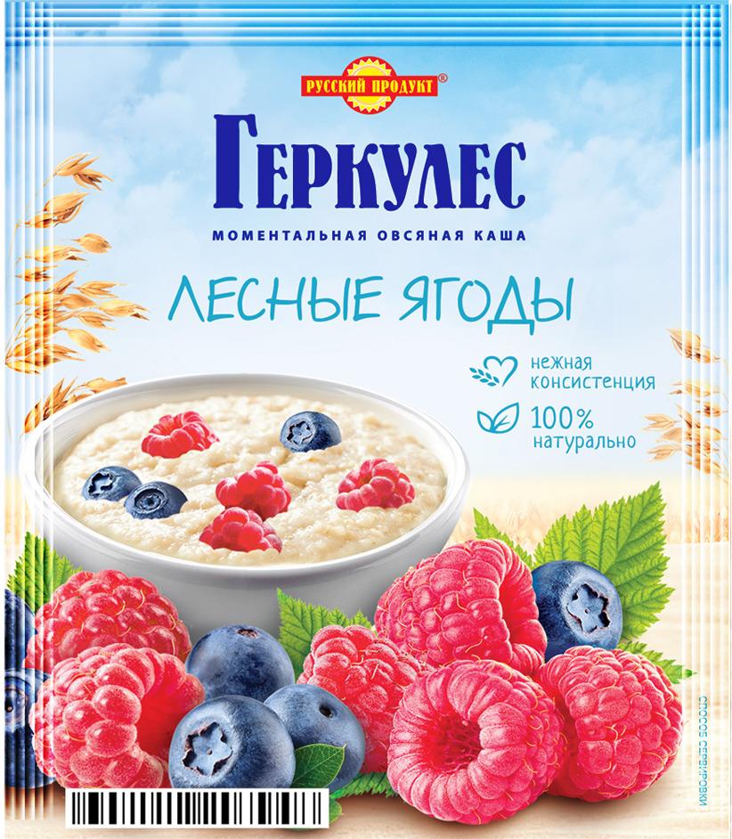 Русский продукт Геркулес овсяная каша с лесными ягодами, 30 шт по 35 г русский продукт геркулес овсяная каша с клубникой 30 шт по 35 г