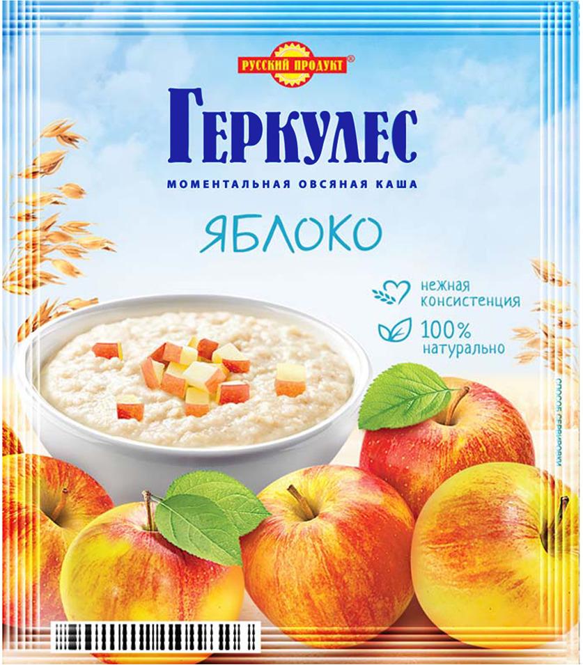 Русский продукт Геркулес овсяная каша с яблоками, 30 шт по 35 г русский продукт желе зеленое яблоко 35 шт по 50 г