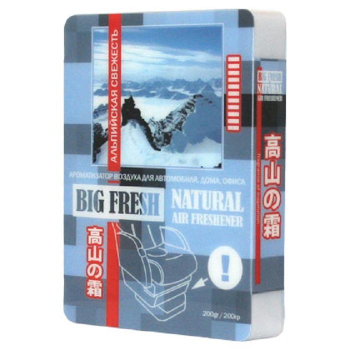 Автомобильный ароматизатор FKVJP BIG FRESH альпийская свежесть, голубой цена 2017