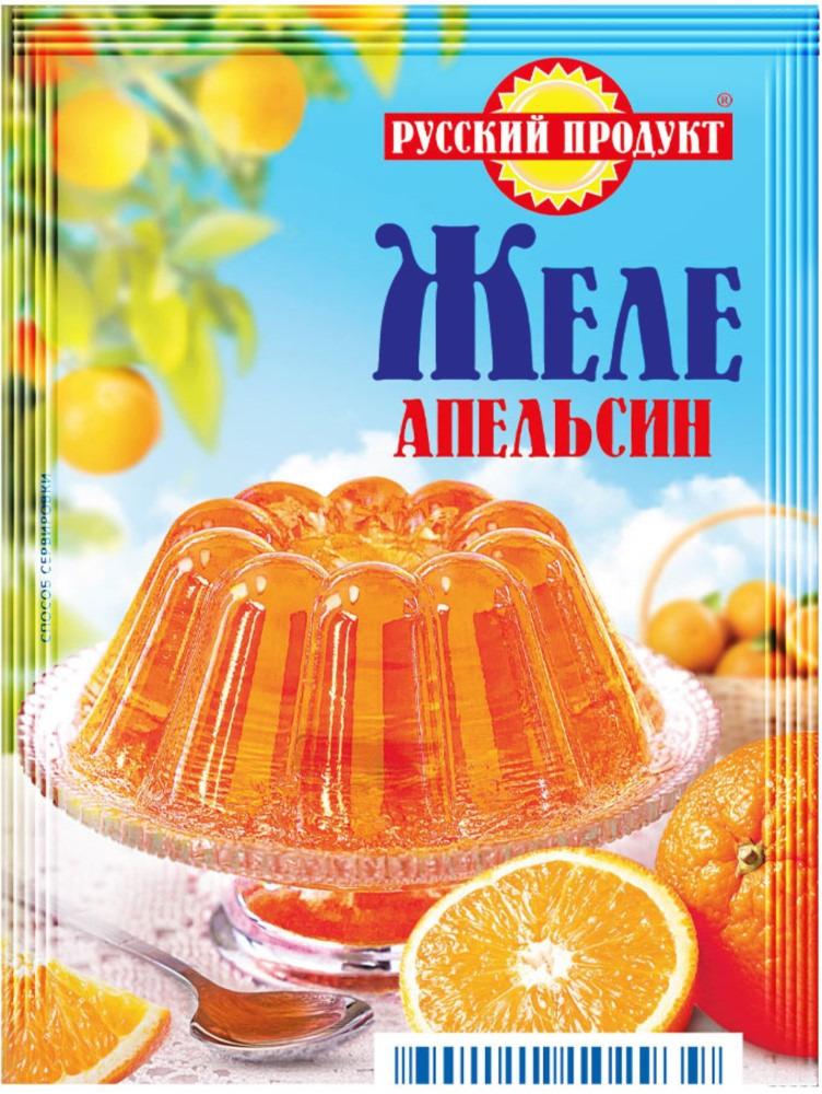 Русский продукт Желе апельсин, 35 шт по 50 г русский продукт желе зеленое яблоко 35 шт по 50 г