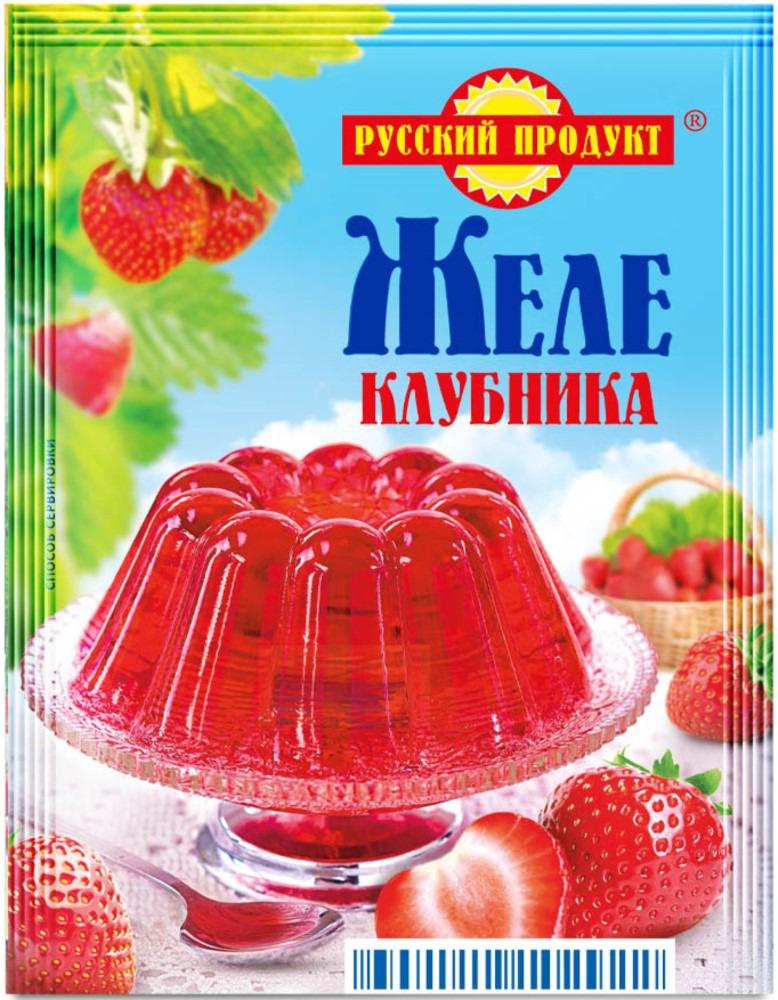 Русский продукт Желе клубника, 35 шт по 50 г русский продукт желе зеленое яблоко 35 шт по 50 г