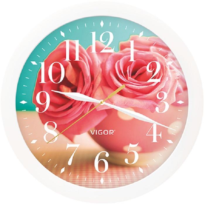 Настенные часы Vigor Д-29 Розовые розы цены
