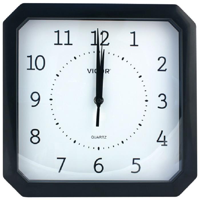 Настенные часы Vigor К-28 Классика в чёрном