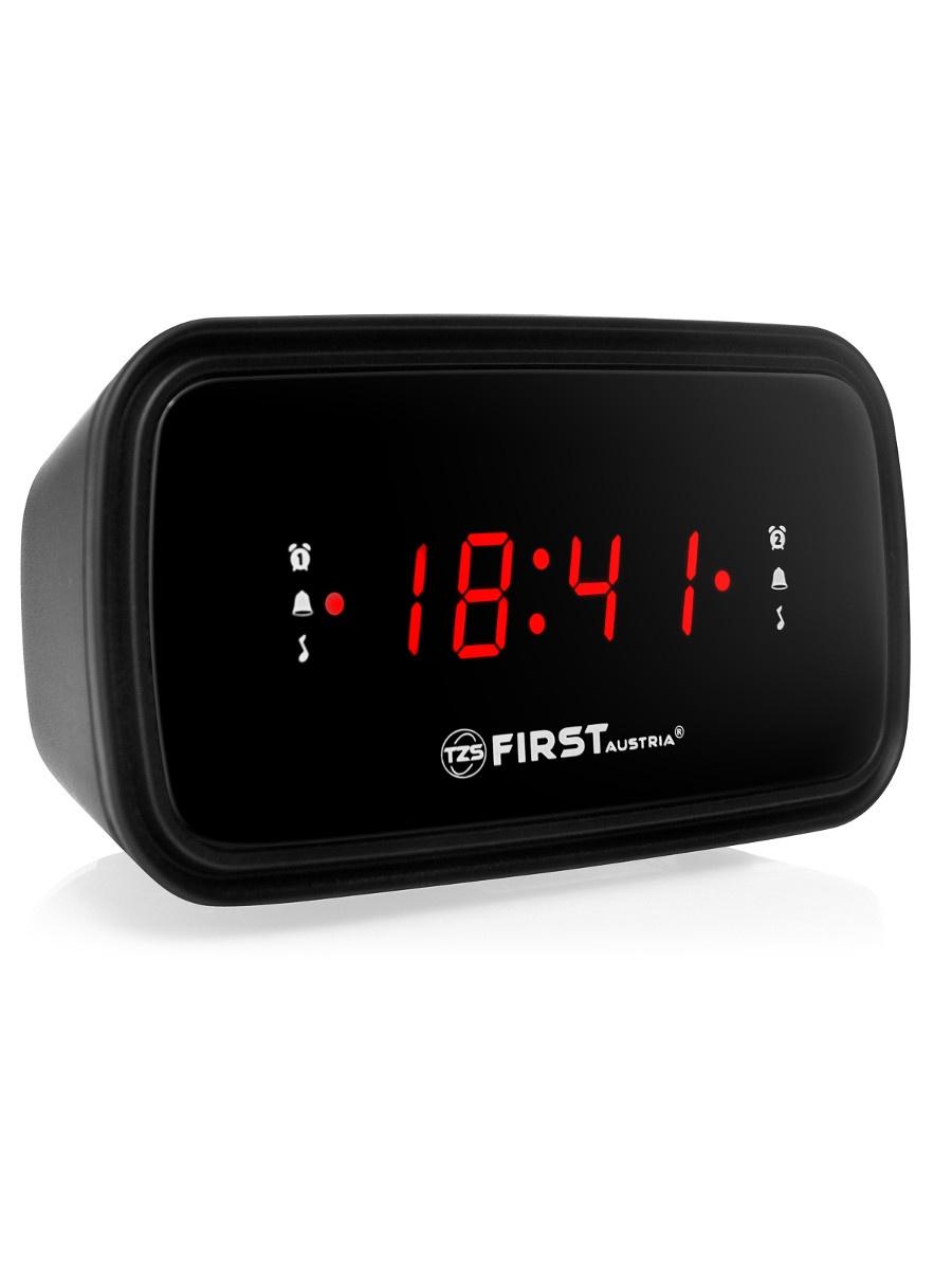 Радио-будильник first FA-2406-6, черный любовь урок aker ak58 lcd цифровой микрофон fm выбор радио портативный динамик талии висел небольшой пчелы аудио красный