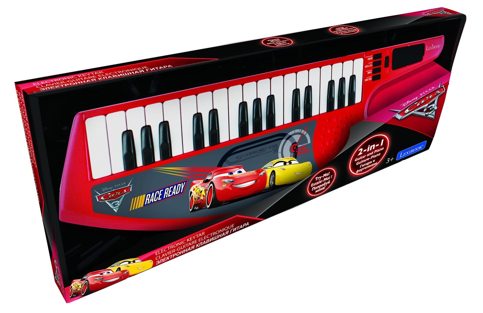 Цифровой синтезатор Lexibook Тачки 3, красный, черный детский музыкальный инструмент сима ленд синтезатор с микрофоном музыкант green 1689051