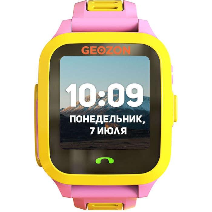 Умные часы для детей GEOZON ACTIVE, розовый умные часы детские geozon aqua синий