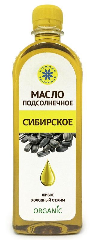 Масло Подсолнечное Компас Здоровья Сибирское, 0,5 л масло льняное компас здоровья сибирское 0 2 л
