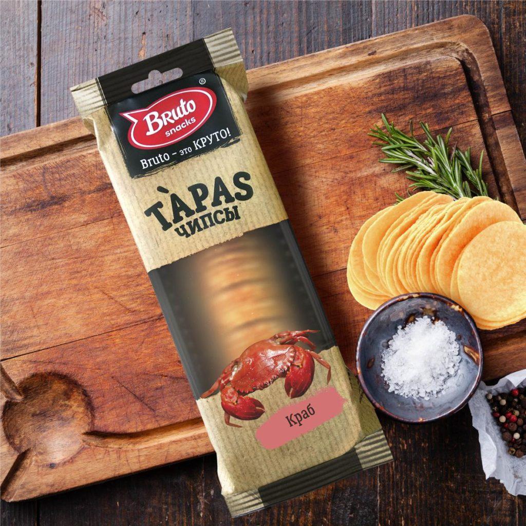 Фото - Чипсы BRUTO Тапас Краб, Краб, 75 pringles картофельные чипсы со вкусом краба 70 г