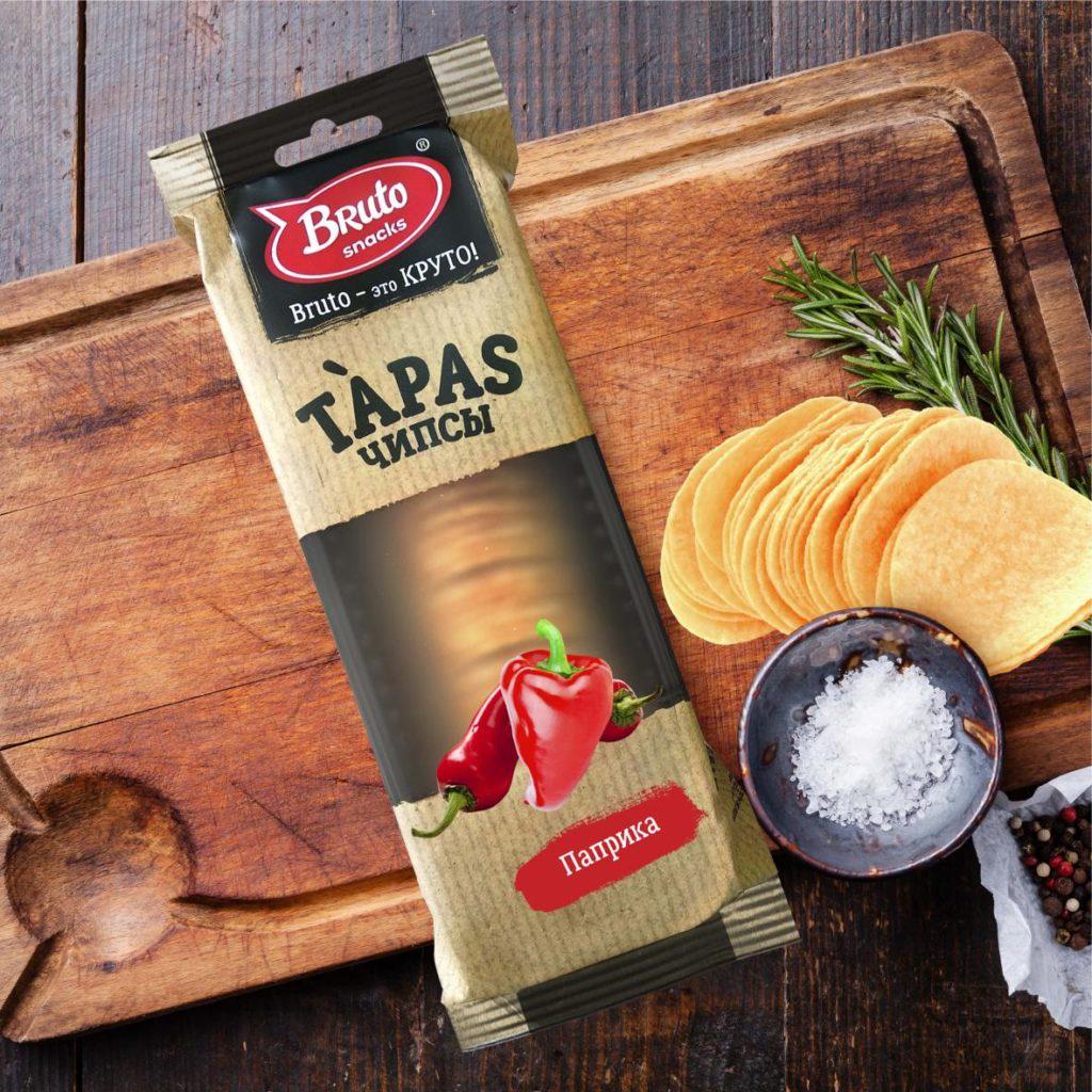 Фото - Чипсы BRUTO Тапас Паприка, Паприка, 75 pringles картофельные чипсы со вкусом краба 70 г