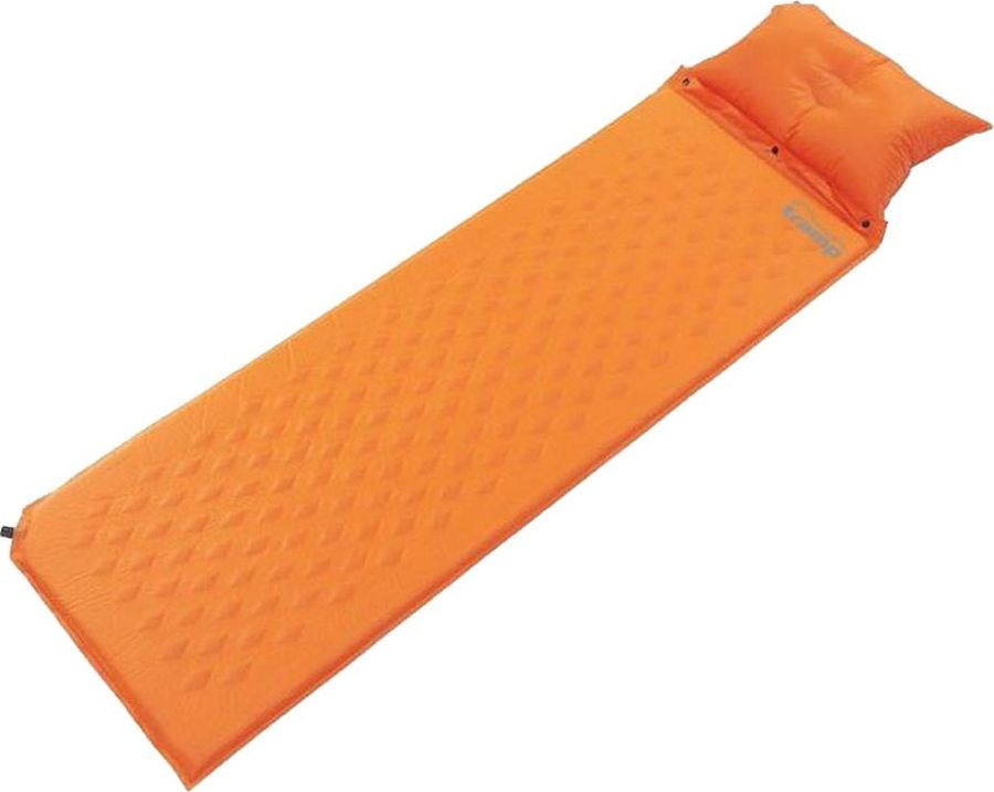 Коврик самонадувающийся Tramp, с подушкой, TRI-017, оранжевый, 185 х 66 см коврик tramp tri 002