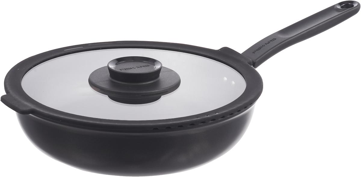 цена на Сотейник Fiskars Functional Form, 1026575, черный, диаметр 26 см