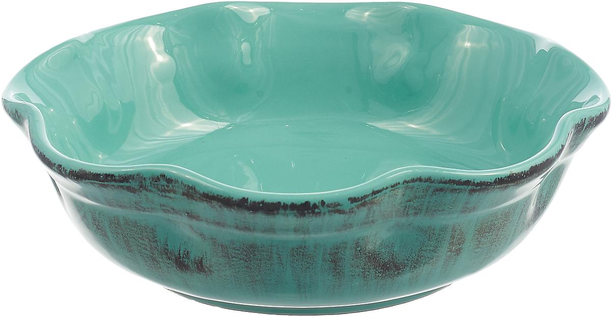 Тарелка глубокая De Silva Эль Маре, DS826LM, бирюзовый, диаметр 20 см