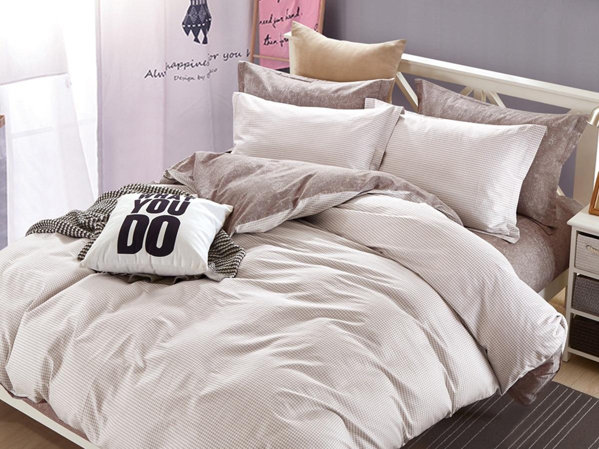 Комплект постельного белья Cleo Satin lux Реканати, 15/329-SL, бежевый, 1,5-спальный, наволочки 70x70