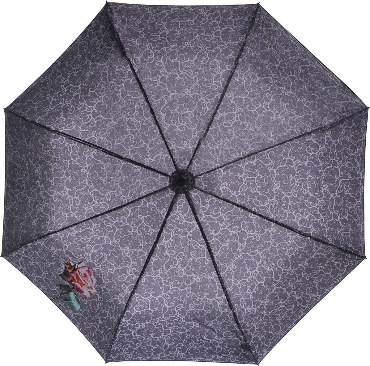 Зонт женский Airton, механический, 3 сложения, цвет: фиолетовый, розовый. 3511-179 зонт airton 3515 женский механический