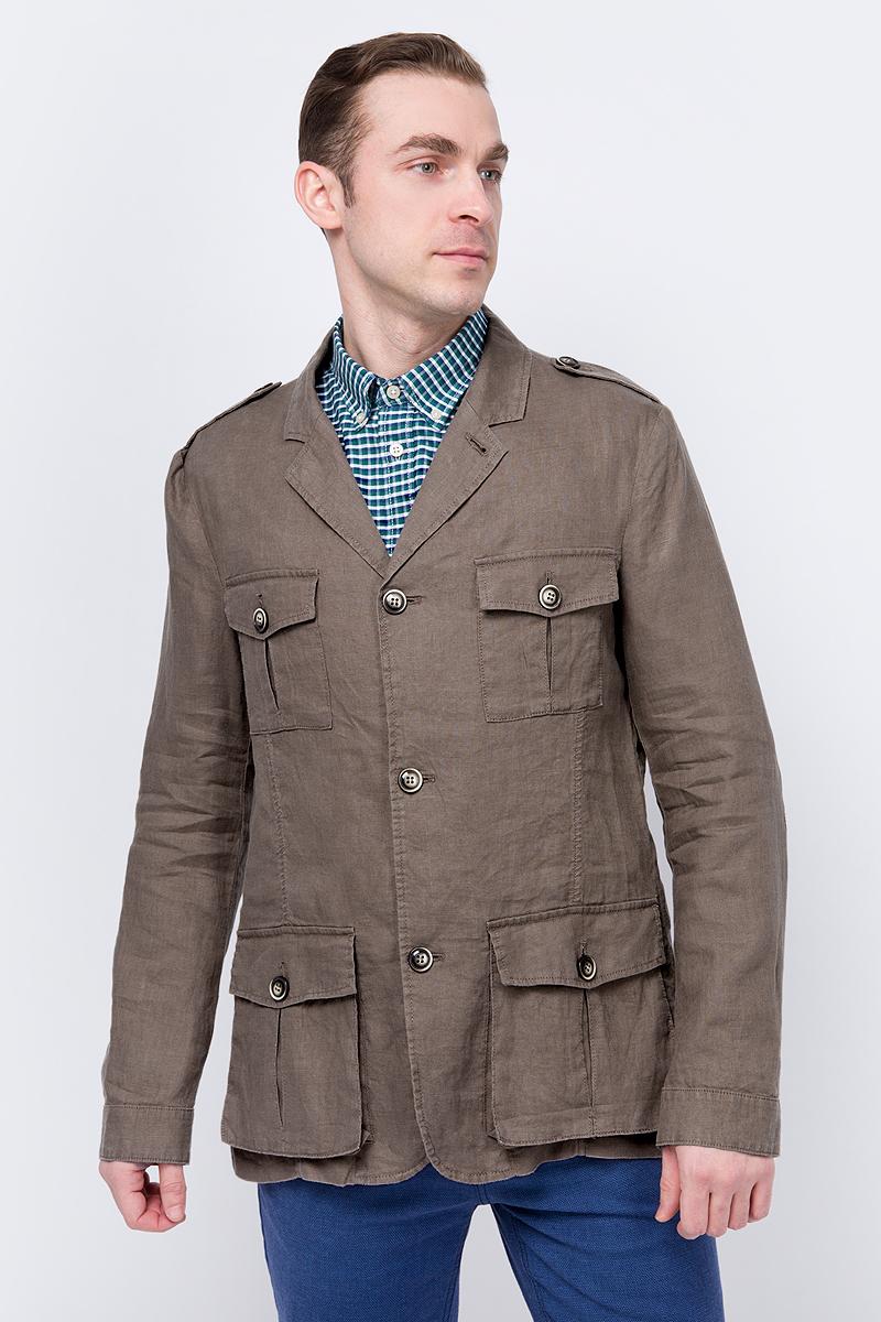 Куртка мужская United Colors of Benetton, цвет: коричневый. 2AGH53C38_04B. Размер XXL (54/56)2AGH53C38_04B