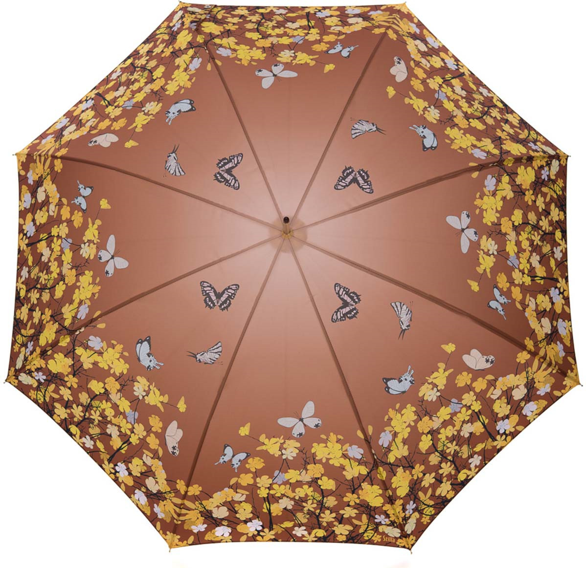 Зонт-трость женский Stilla, цвет: коричневый, желтый. 741/1 auto зонт stilla 680auto 1 светло коричневый