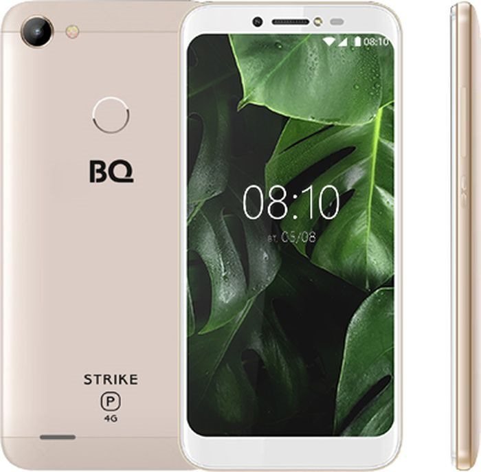 Смартфон BQ Mobile Strike Power 4G 8 GB, золотой смартфон bq mobile strike power 4g 8 gb серый