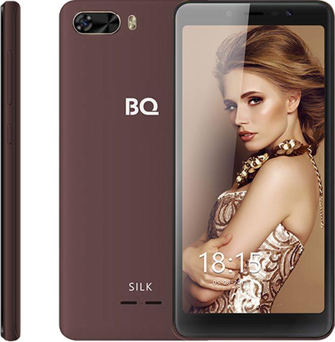 Смартфон BQ Mobile Silk 8 GB, коричневый