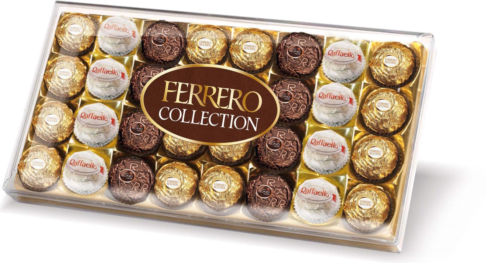 Фото - Ferrero Collection набор конфет: Raffaello, Ferrero Rocher, Ferrero Rondnoir, 360 г ferrero prestige набор конфет mon cheri ferrero rocher pocket coffee espresso 246 г
