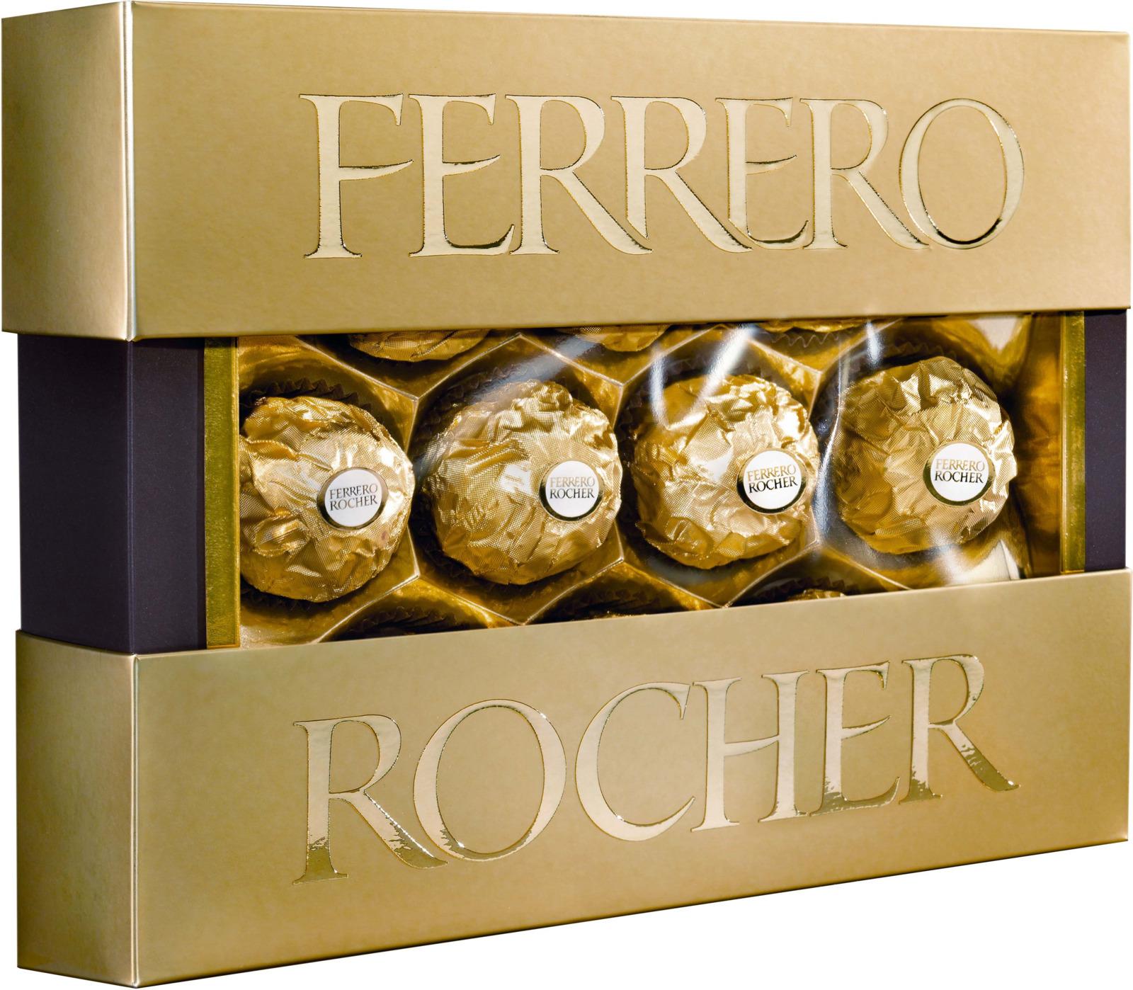 Фото - Ferrero Rocher конфеты хрустящие из молочного шоколада, покрытые измельченными орешками, с начинкой из крема и лесного ореха, 125 г ferrero prestige набор конфет mon cheri ferrero rocher pocket coffee espresso 246 г