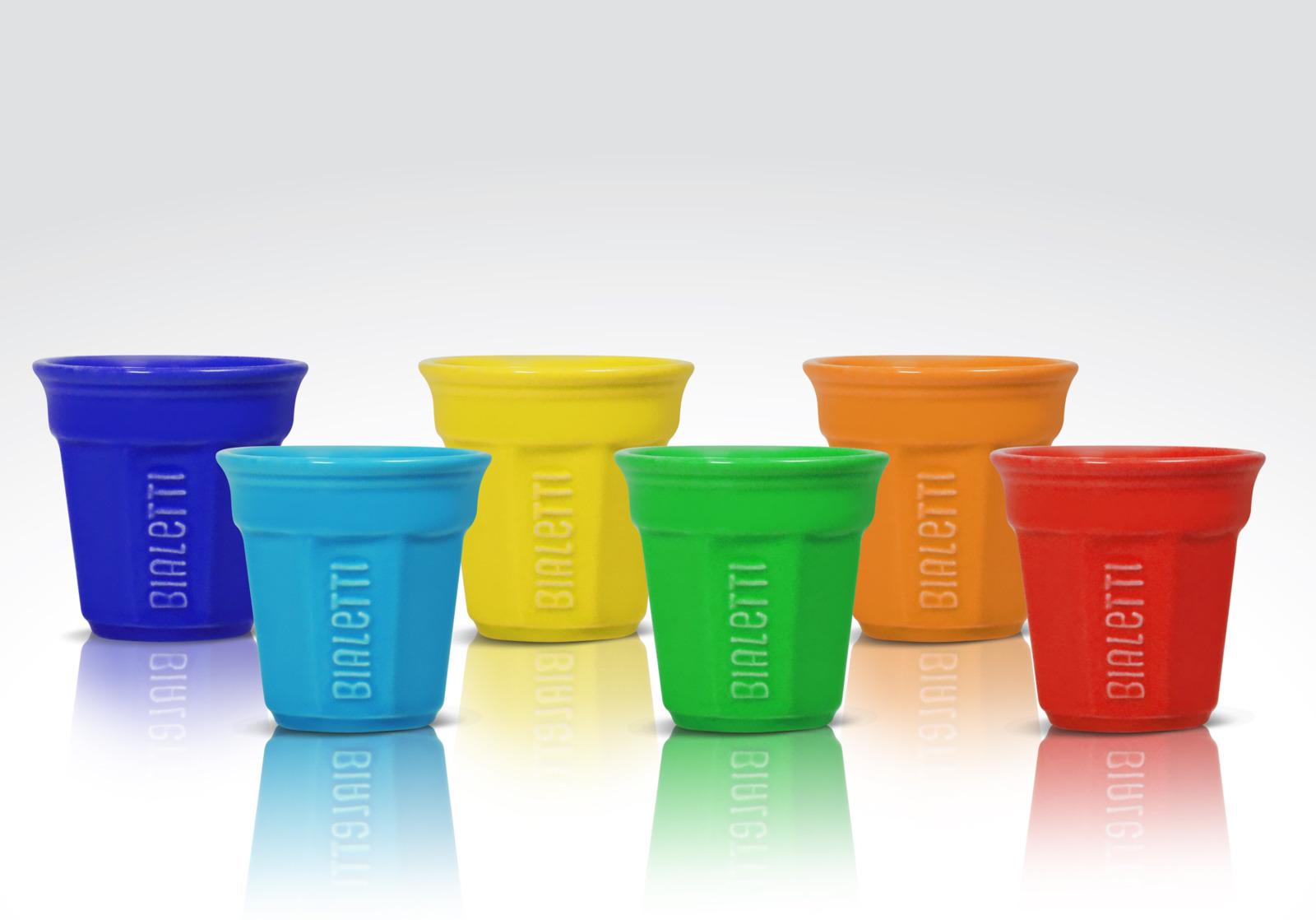 Фото - Кофейные чашки Bialetti Set Bicchierini 6 шт., разноцветный [супермаркет] jingdong геб scybe фил приблизительно круглая чашка установлена в вертикальном положении стеклянной чашки 290мла 6 z