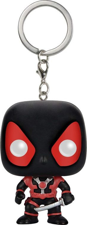 Брелок Funko Pocket POP! Keychain Marvel Black Deadpool 7512-PDQ hot sale movie super cool deadpool action figure toy marvel deadpool display decoration doll collection children juguetes gift