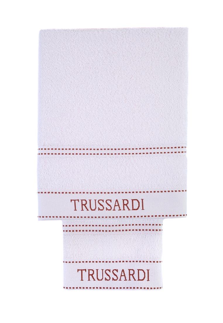 цена Набор банных полотенец Trussardi Ribbon, белый онлайн в 2017 году