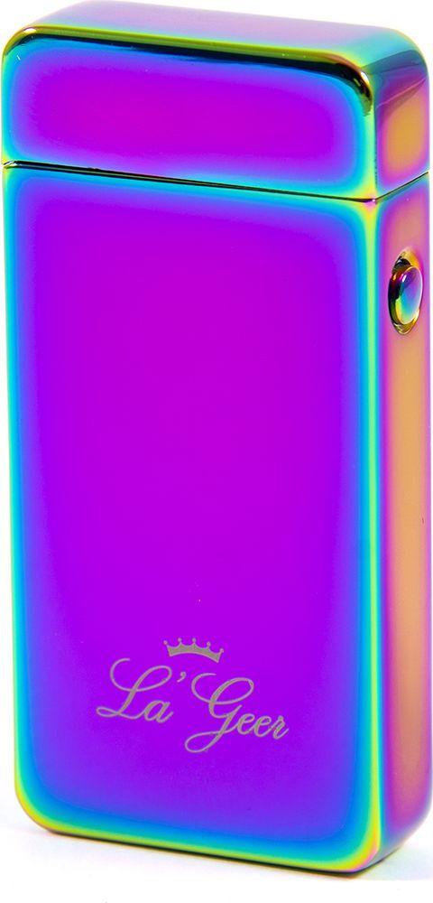 Зажигалка La Geer, электроимпульсная USB, 85406, розовый, 1,5 х 4 х 7 все цены