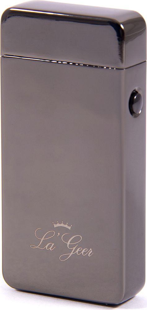 Зажигалка La Geer, электроимпульсная USB, 85407, серый, 1,5 х 4 х 7 все цены