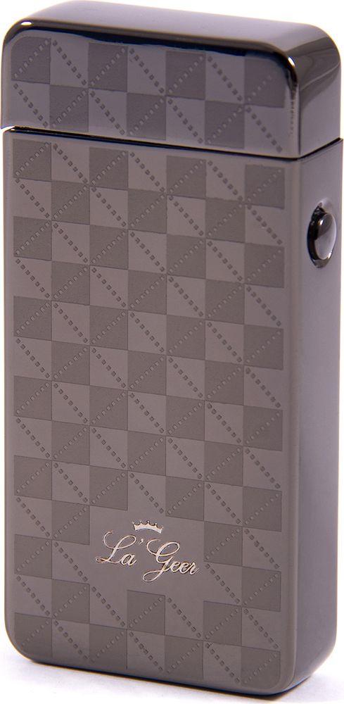 Зажигалка La Geer, электроимпульсная USB, 85414, серый, 1,5 х 4 х 7 все цены