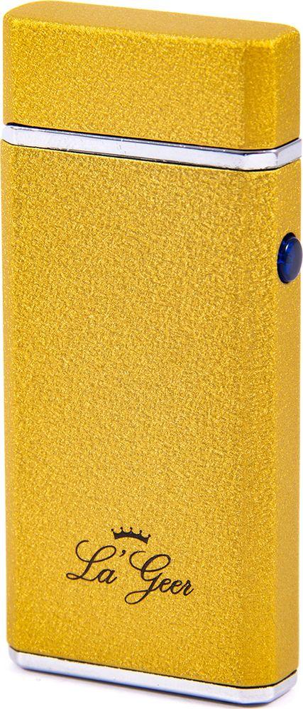 Зажигалка La Geer, электроимпульсная USB, 85416, желтый, 1,5 х 4 х 7 все цены