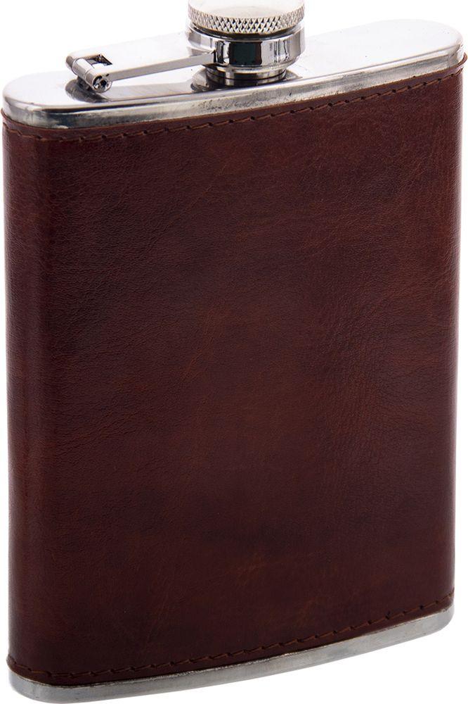 Фляжка Русские Подарки, 46063, коричневый, 230 мл