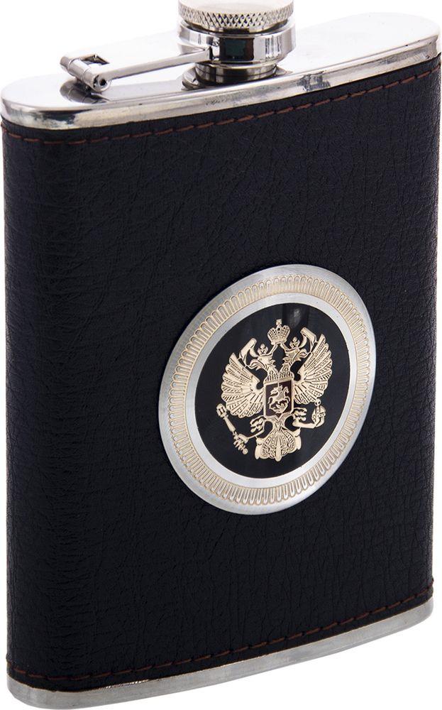 Фляжка Русские Подарки, 46064, черный, 230 мл