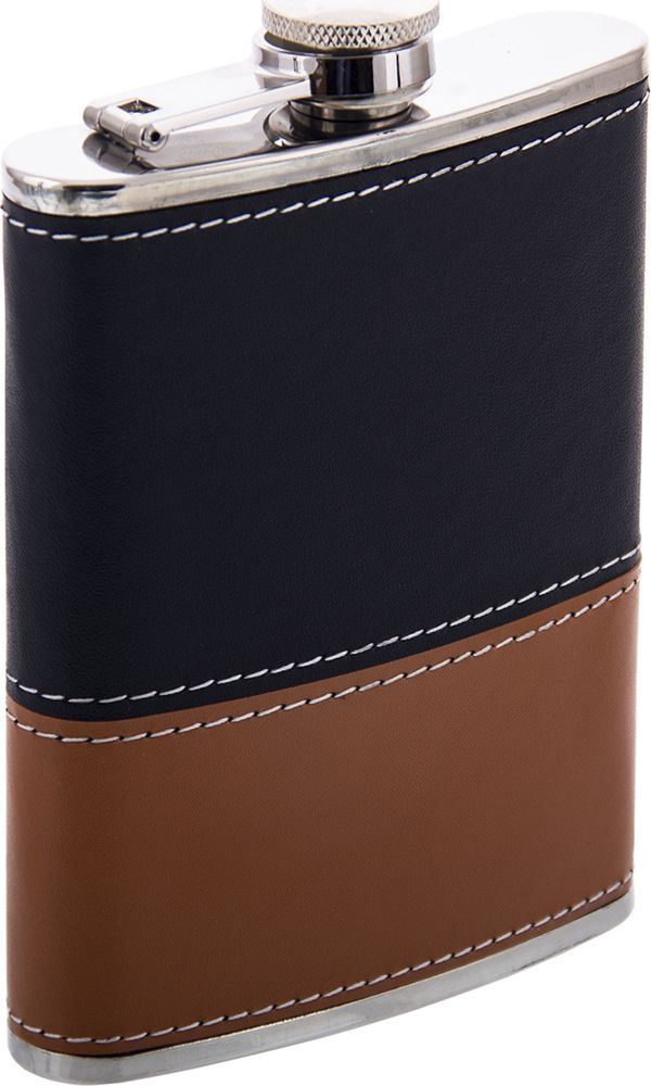 Фляжка Русские Подарки, 46066, черный, коричневый, 230 мл