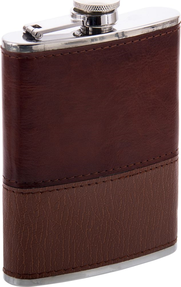 Фляжка Русские Подарки, 46069, коричневый, 230 мл