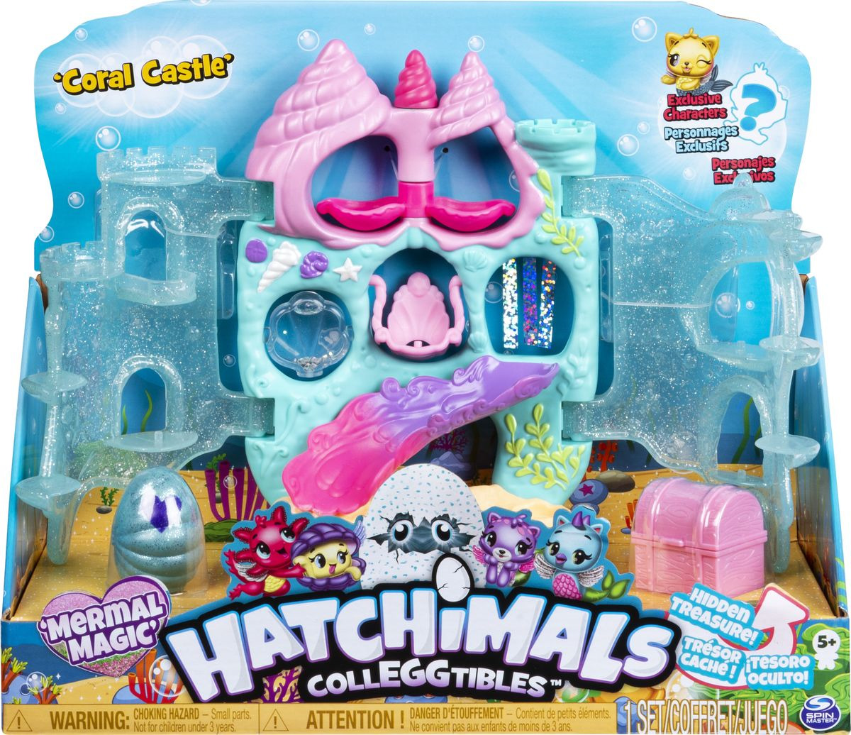 Фигурка Hatchimals Hatchimals Colleggtibles Коралловый дворец, 6045505 фигурка hatchimals hatchimals colleggtibles водная мини горка 6045503