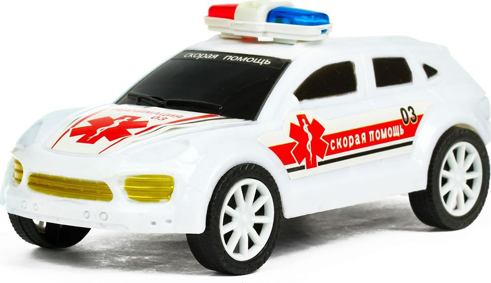 Машинка Скорая помощь, инерционная, 1483432 автомобиль polesie скорая помощь 71293