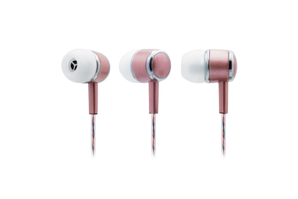 Наушники Qumann Наушники с микрофоном QSE-03 iDoll розовое золото наушники