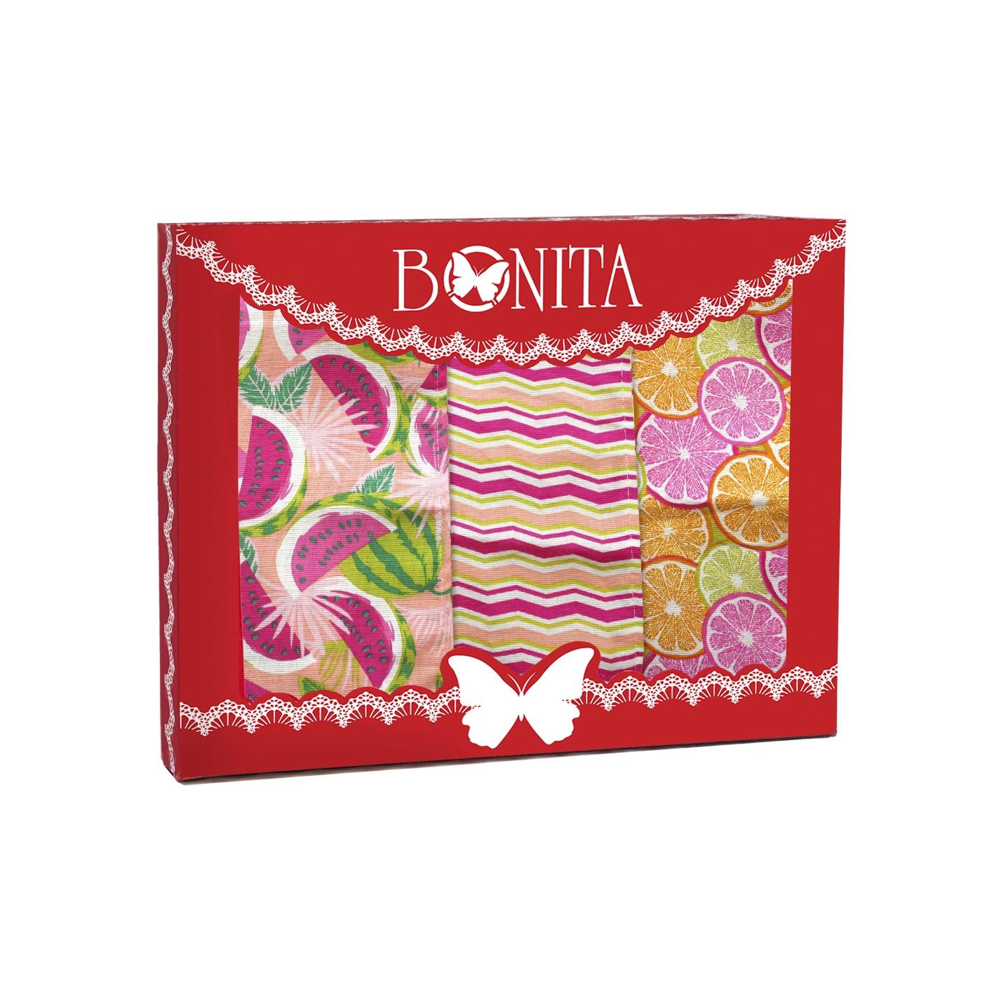 Набор кухонных полотенец Bonita Сахарный арбуз, красный, розовый, зеленый цена и фото