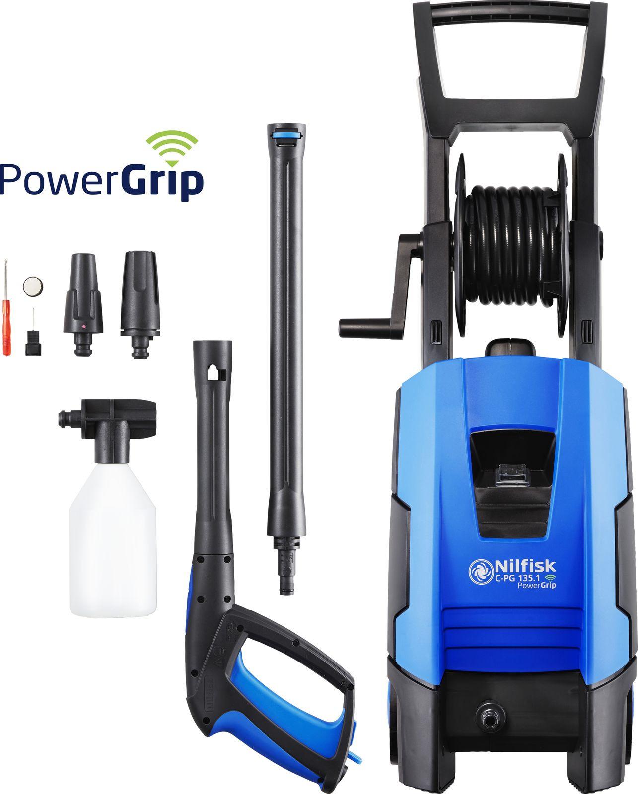 Минимойка Nilfisk C-PG 135.1-8 X-TRA PowerGrip, высокого давления, 128471165, 135 бар, 520 л/час, 220В