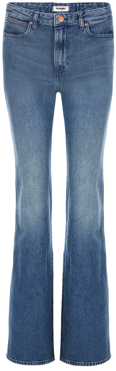 Джинсы женские Wrangler Retro Flare, цвет: синий. W240FH21Y. Размер 27-32 (42/44-32)W240FH21Y