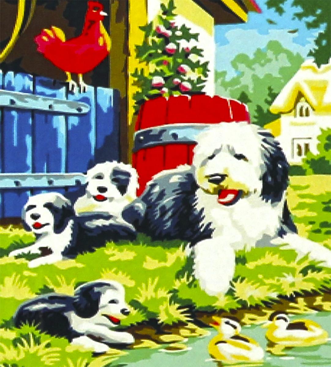 """Набор для живописи Рыжий кот """"Щенки в саду"""", 50 х 40 см"""