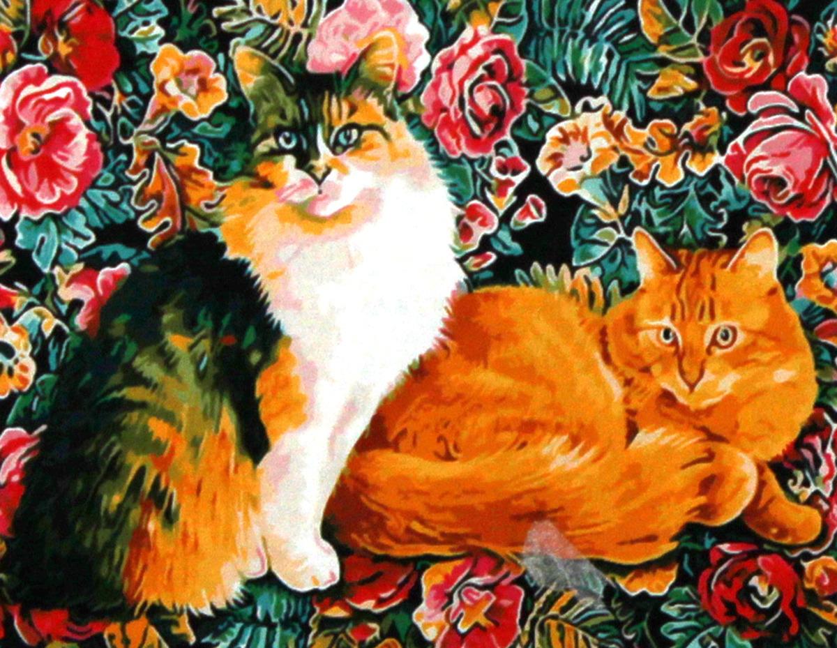 """Набор для живописи Рыжий кот """"Красивые коты"""", 50 х 40 см"""