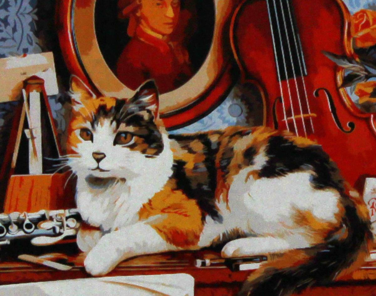 Фото - Набор для живописи Рыжий кот Котик и скрипка, 50 х 40 см набор для живописи рыжий кот лошадь и кот в цветах 50 х 40 см