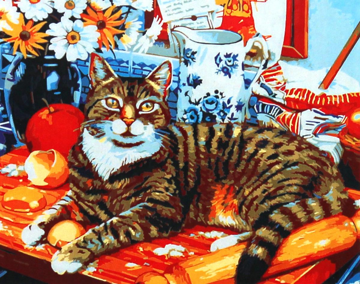 Фото - Набор для живописи Рыжий кот Кот и натюрморт, 50 х 40 см набор для живописи рыжий кот лошадь и кот в цветах 50 х 40 см
